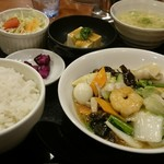中華あんかけ工房 東陽閣 - ランチ、八宝菜定食