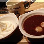 焼肉じゃんじゃん亭 - ソフトクリーム、白玉ぜんざい