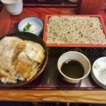 更科丸屋 - かつ丼セット 1,000円