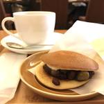 上島珈琲店 - 鹿の子バタどらとブレンドコーヒー
