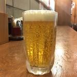青山麺飯坊 - 生ビール(グラス)