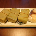 柿の葉寿し 柿吉 - 柿の葉寿司(さば)