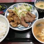 6575614 - たん+カルビ定食