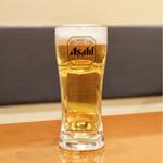 餃子 青島 - 生ビール 480円