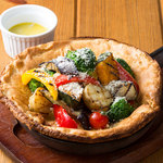 ■たっぷりグリル野菜のダッチベイビー バーニャカウダソース