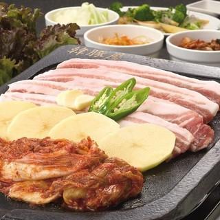 【幹事様も安心】サムギョプサル食べ放題&飲み放題3980円