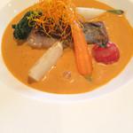 アニバーサリーハウス メルシー - 料理写真:メイン料理です。目鯛のポワレ.アメリケーヌソース ソースがタップリでした。