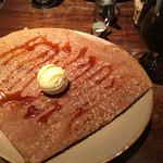 65759244 - ボルティエ製バターとブラウンシュガーのガレット バニラアイス添え(1,150円)