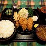 味の大善 - 味の大善 @逗子 カキフライ定食 800円
