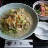 味処湯処 よしちょう - 料理写真:小浜ちゃんぽん しらすネギトロ丼セット@1,080