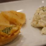 TAKUバル - ポテサラ、キッシュ、筍、どれも美味しかったですよ♪(2017.4.20)