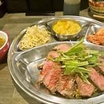 大衆肉食堂 源兵衛 - インディアンローストビーフ丼 900円