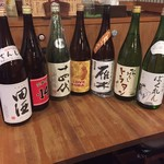 ビストロde麺酒場 燿 - 日本酒の種類は、常時変わります!チェックしてくだ