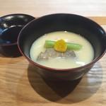 料理屋 染川 - 白子の白味噌仕立て