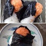 五穀豊穣 蔵一 - ◆紅鮭(1個:210円)・・コレも明太子と同じく中にも「鮭」が入っています。 鮭の塩気は軽めですので、おにぎりだともう少し塩が強くてもいいような・・