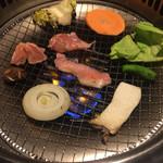 闘牛門 - 焼き野菜にキャベツが来ました(OvO)