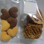 森のお菓子屋 スピカ - ハートクッキー&ごまチュイル