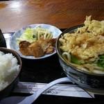 うえすぎ手打うどん - 料理写真:うどん定食を天ぷらうどんで。