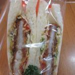 中屋パン - かつサンドイッチ