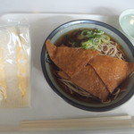 大浦食堂 - きつねそば280円&タマゴサンド170円(2017.1.27)