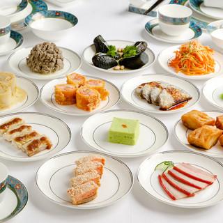 美と健康、長寿を追い求めた彩り豊かな前菜が味わえる各種コース
