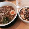 ひできよラーメン - 料理写真:鶏ガララーメン & 麻婆豆腐丼