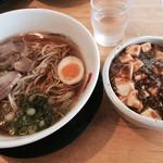 ひできよラーメン - 鶏ガララーメン & 麻婆豆腐丼