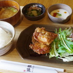 釜炊近江米 銀俵 - 近江米粉の唐揚げ定食