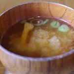 釜炊近江米 銀俵 - 味噌汁