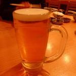 割烹 逆瀬川 川上 - 生ビール