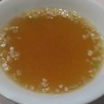 欣喜 - 麻婆豆腐に付く?スープ