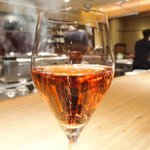 Grill&Wine TOSAKA - 桜のコース 3510円 の桜のスパーク