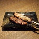 Grill&Wine TOSAKA - 桜のコース 3510円 のこころ串、せせり串