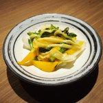 Grill&Wine TOSAKA - 桜のコース 3510円 の季節野菜グリル バーニャカウダソース