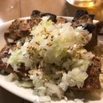 もつ焼き ウッチャン 新宿思い出横丁 - 葱れば470円