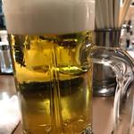 もつ焼き ウッチャン 新宿思い出横丁 - 生ビール570円