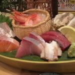 漁師の宴 - お刺身盛り合わせ