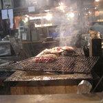 漁師の宴 - 炭火焼きです。