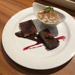 Piccolo ristorante CIBO SANO - 黒糖のカタラーナ、生姜のソルベ、チョコレートのテリーヌ