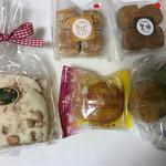 千寿庵 - 料理写真:ホワイトチョコとヘーゼルナッツチョコ、ホロホロクッキー黒糖、きなこ、スイートポテト、はいから金時
