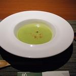 65792822 - グリーンピースのアツアツスープ