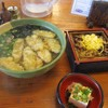 麺房てうち庵 - 料理写真:暫く待つと注文したきのこご飯とごぼう天そばのセット785円の出来上がりです。