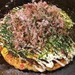 お好み焼き ゆかり - お好み焼きランチ♪(´ε` )のお好み イカ トン