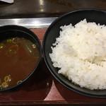 お好み焼き ゆかり - ライス 赤出汁☆★★☆(^^)v