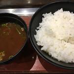 お好み焼き ゆかり - 赤出汁☆★★☆ライス