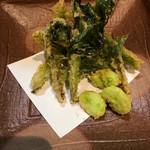 旬味 いやさか - 春野菜の天ぷら