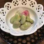 旬味 いやさか - 空豆の塩茹で