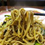 千里香 - モチモチの平打ち麺&甘辛ソース、なかなか旨し