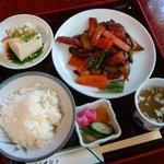 菜根 - 本日の御献立C:鶏肉と茄子の味噌炒め定食(1,500円)