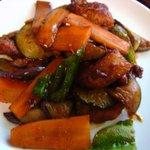 菜根 - 鶏肉と茄子の味噌炒め
